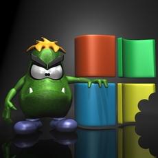 Sam the Virus 3D Model
