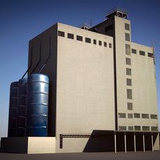 industrial building fodder 3D Model