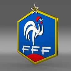 France football emblem   3D Model