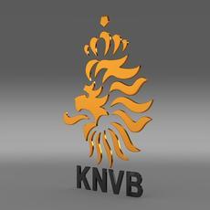 Holland football emblem  3D Model