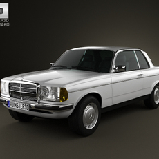 Mercedes-Benz E-Class W123 coupe 1975 3D Model