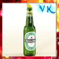 Heineken Beer Bottle 3D Model