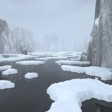 Landscape - rocky islands 02 3D Model