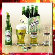 Heineken Beer Collection 3D Model