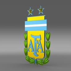 Argentine football emblem   3D Model