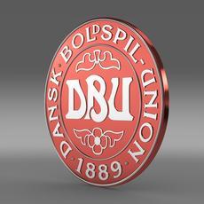 Danish football emblem  3D Model