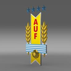 Uruguay football emblem  3D Model
