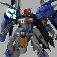 EX-S Gundam 3D Model