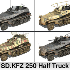 SD.KFZ 250 Half Truck - Collection 3D Model