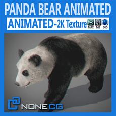 Animated Panda Bear 3D Model