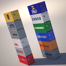 20 ft ISO Containers 3D Model