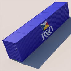 40 ft ISO Containers 3D Model