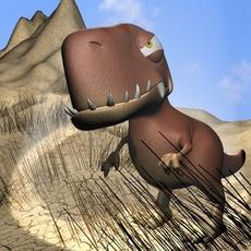 Cartoon T-Rex Rigged 3D Model