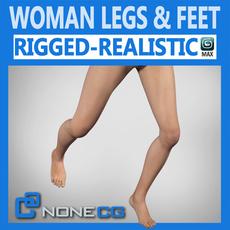 Adult Female Legs and Feet 3D Model