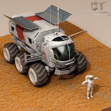 Lunar vehicles collection 3D Model