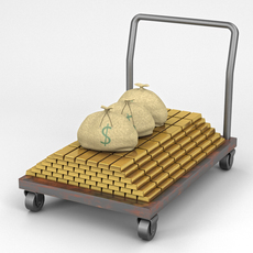 Flatbed and Dolly 3D Model