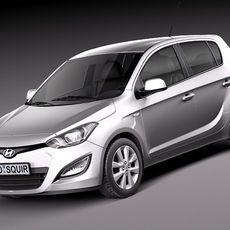 Hyundai I20 5-door 2013 3D Model