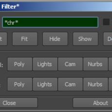 Text Filter for Maya 1.0.0 (maya script)
