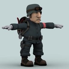 Cartoon soldier 3D Model