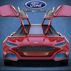Ford Evos concept std mat 3D Model