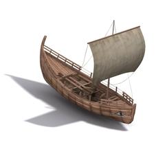 Kyrenia Ancient Trade Ship 3D Model