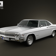 Chevrolet Impala SS Sport Coupe 1966 3D Model