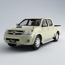 Toyota Vigo DCab  3d car model. 3D Model