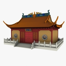 Chinese Temple 3D Model