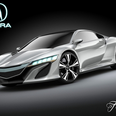 Acura NSX concept 2012 3D Model
