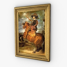 Framed painting 3D Model