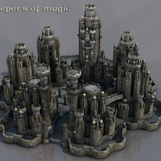 Large fantasy castle 3D Model