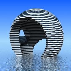Futuristic Building 01 3D Model