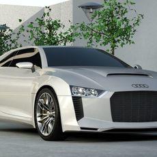 Audi Quattro Concept 2010 3D Model