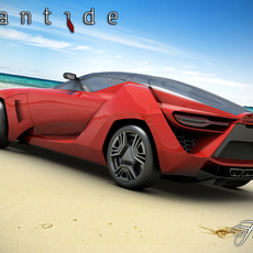 Bertone Mantide concept STD MAT 3D Model