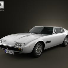 Maserati Ghibli coupe 1967 3D Model