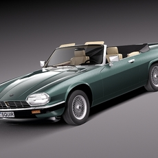Jaguar XJS convertible 1975 3D Model