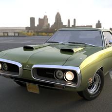 Dodge Coronet 1970 3D Model