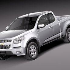 Chevrolet Colorado 2012 Extended Cab 3D Model
