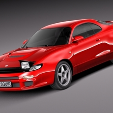 Toyota Celica 4wd st185 1990-1993 3D Model