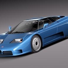 Bugatti EB110 1991-1995 3D Model