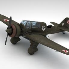 Pzl 23 Karas light bomber 3D Model