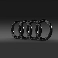 Audi Logo 3D Model