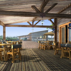 Architecture Outdoor Restaurant 011  3D Model