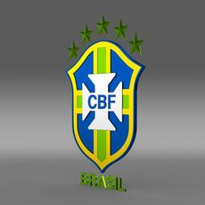 Logo Football Brasil   3D Model