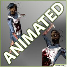 Animated Zombie Nurse - 14 animated poses 3D Model