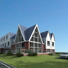Realistic Residential Building 400 3D Model