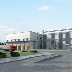 Industrial Building 408 3D Model