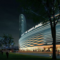 Shopping Mall at Night 465 3D Model