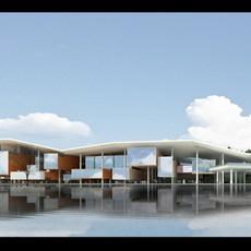 Building at Night 728 3D Model