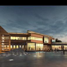 Building at Night 770 3D Model